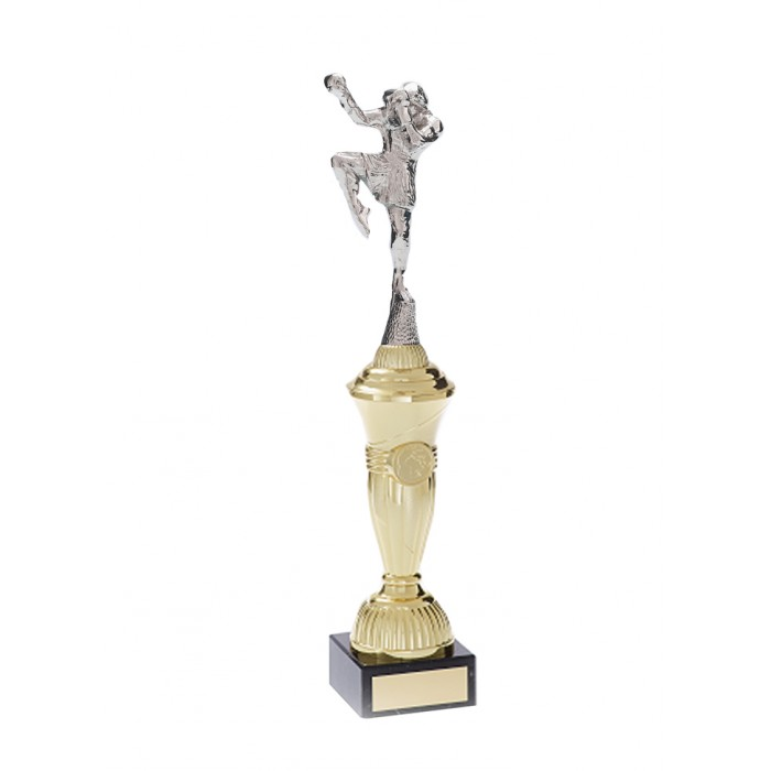 THAI BOXING FIGURE METAL TROPHY  - AVAILABLE IN 4 SIZES