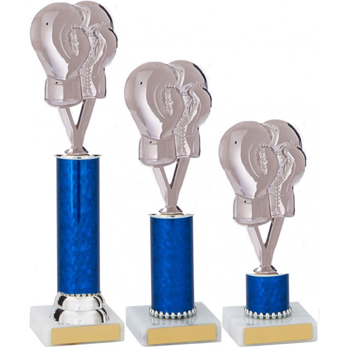 BOXING GLOVE METAL TROPHY  - AVAILABLE IN 3 SIZES