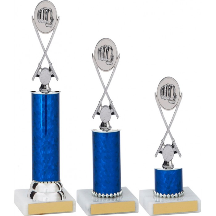CROSS SWORDS METAL TROPHY  - AVAILABLE IN 3 SIZES