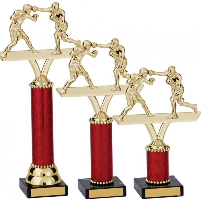BOXING FIGURE METAL TROPHY  - AVAILABLE IN 3 SIZES