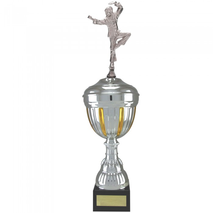 CRANE STANCE FIGURE METAL TROPHY  - AVAILABLE IN 4 SIZES