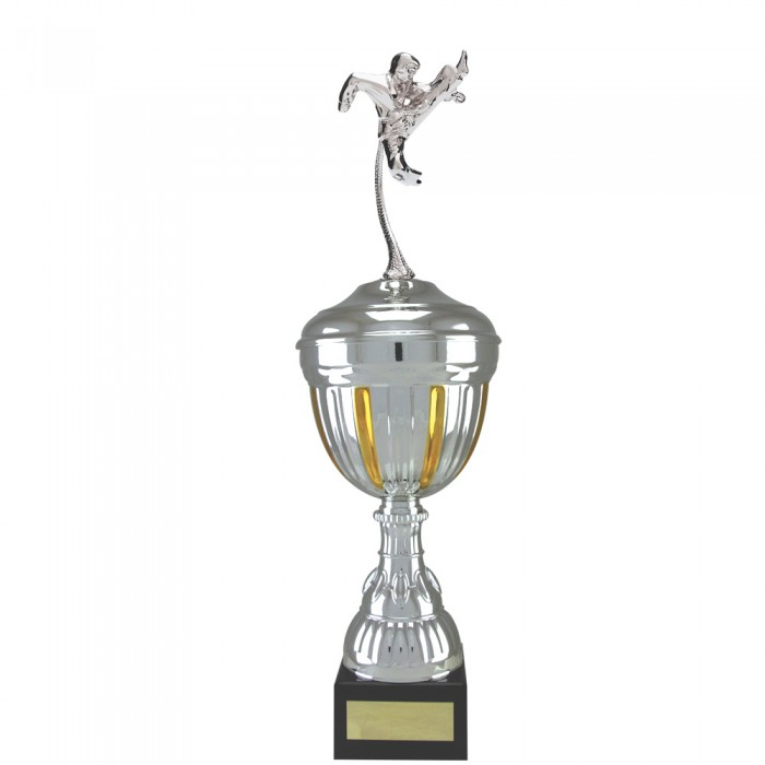 FLYING KICK FIGURE METAL TROPHY  - AVAILABLE IN 4 SIZES