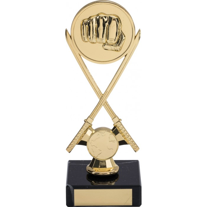7'' CROSS SWORD METAL TROPHY - WITH CHOICE OF SPORTS CENTRE