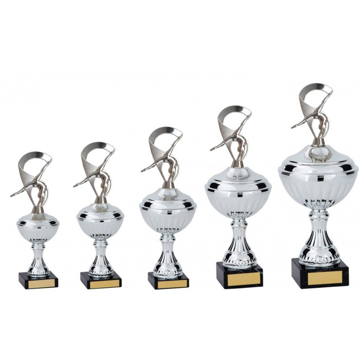 GYMNASTIC/DANCE/CHEERLEADING METAL TROPHY  - AVAILABLE IN 5 SIZES