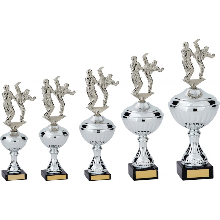 AXE KICK METAL TAEKWONDO TROPHY  - AVAILABLE IN 5 SIZES