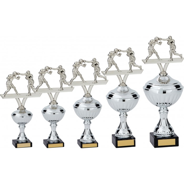 BOXING FIGURES METAL TROPHY  - AVAILABLE IN 5 SIZES