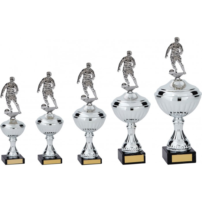 FOOTBALL FIGURES METAL TROPHY  - AVAILABLE IN 5 SIZES