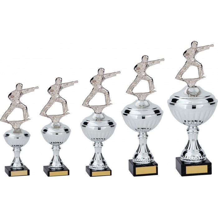PUNCH STANCE METAL TAEKWONDO TROPHY  - AVAILABLE IN 5 SIZES