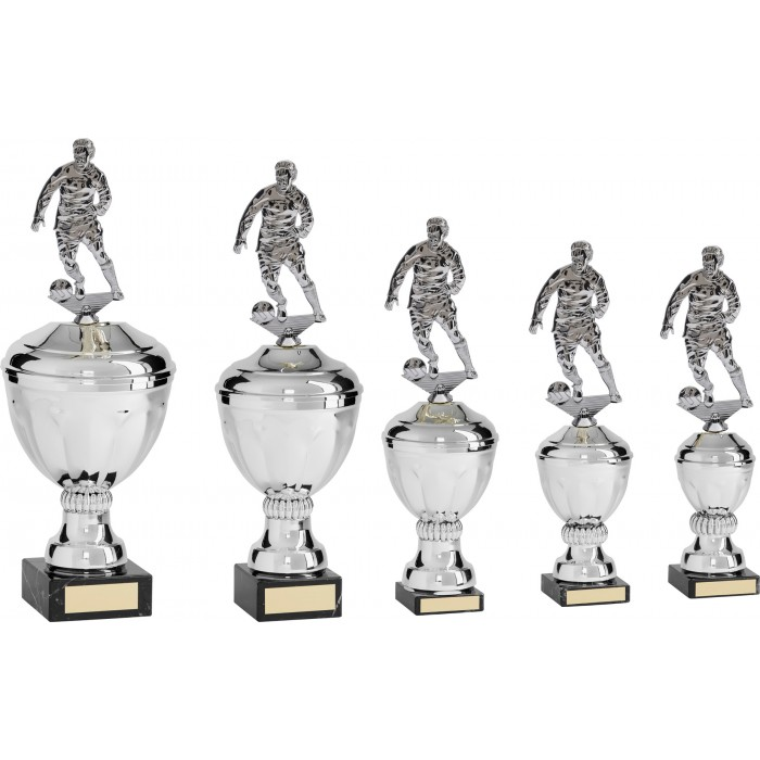 METAL FOOTBALL TROPHY  - AVAILABLE IN 5 SIZES