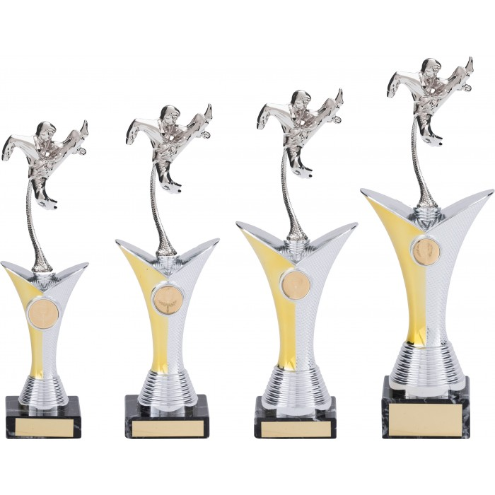 FLYING KICK- KARATE TROPHY - AVAILABLE IN 4 SIZES