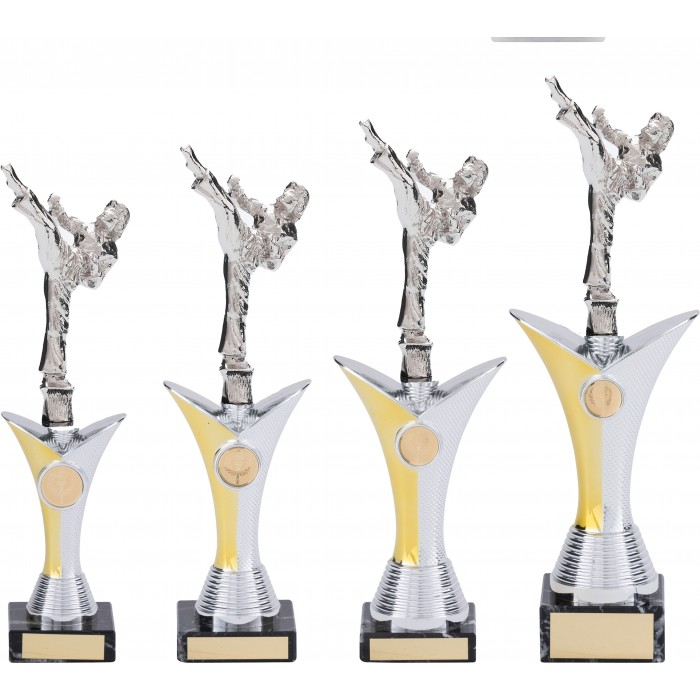 FEMALE ROUNDHOUSE KARATE TROPHY - AVAILABLE IN 4 SIZES