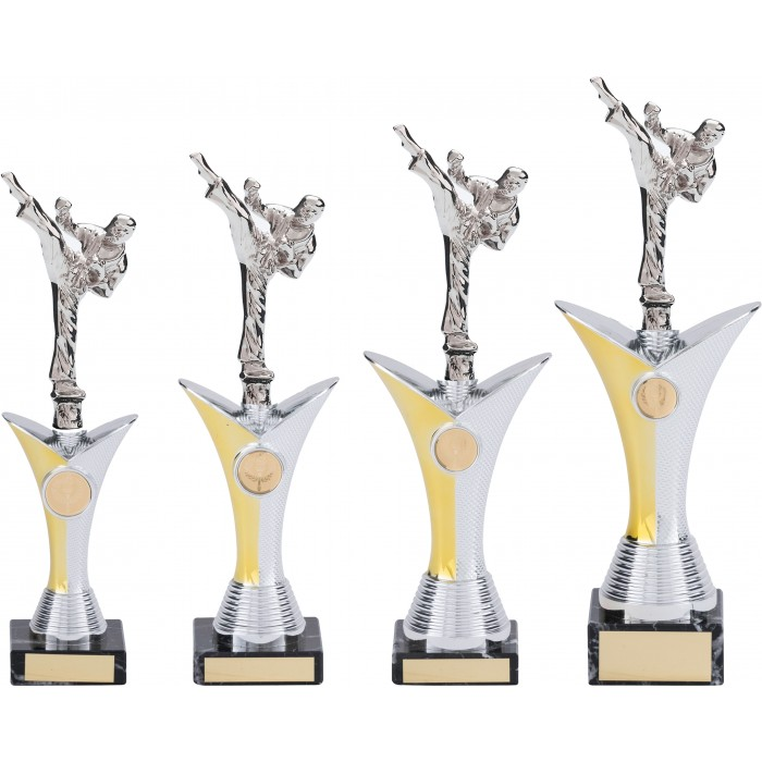 ROUNDHOUSE TAEKWONDO TROPHY - AVAILABLE IN 4 SIZES