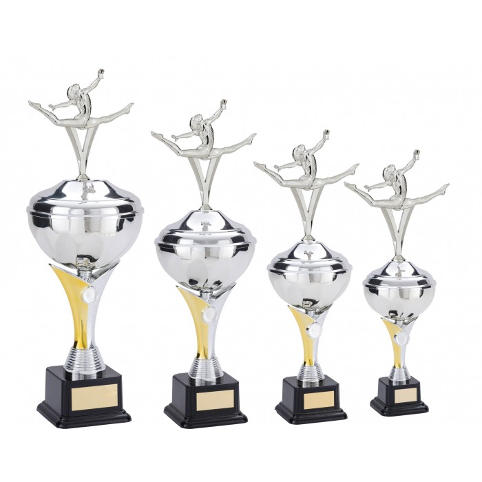 V-RISER CUP WITH SPLIT LEAP METAL PLAQUE - AVAILABLE IN 4 SIZES