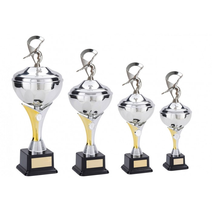 V-RISER CUP WITH GYMNASTICS METAL PLAQUE - AVAILABLE IN 4 SIZES