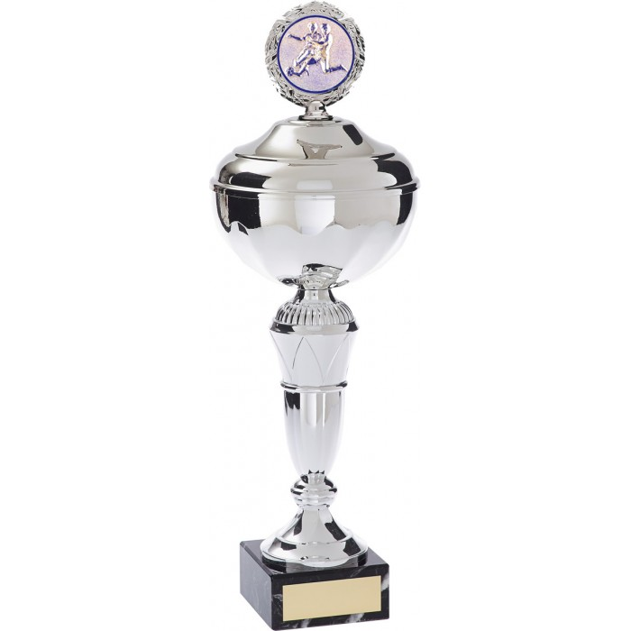 METAL FOOTBALL TROPHY  - AVAILABLE IN 4 SIZES