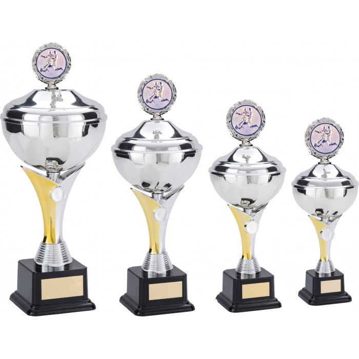 METAL FOOTBALL TROPHY CUP - AVAILABLE IN 5 SIZES
