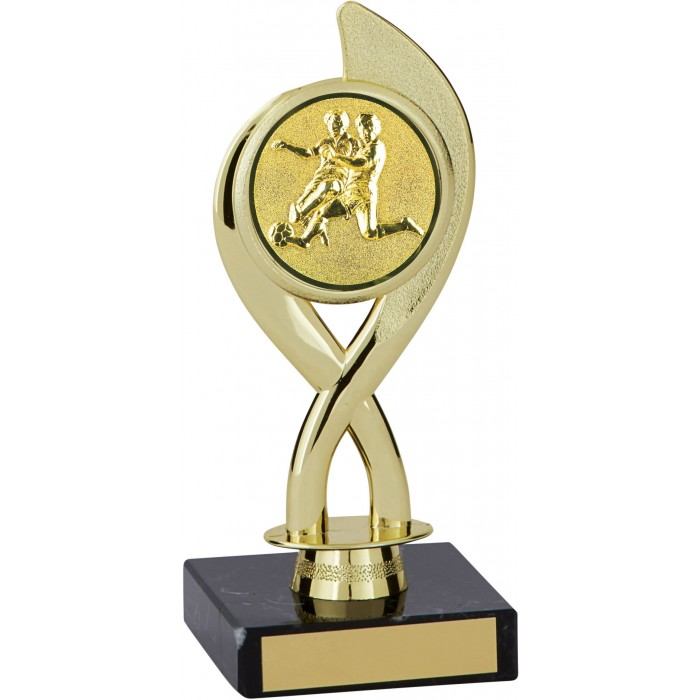 7'' SWIRL PLASTIC FOOTBALL TROPHY