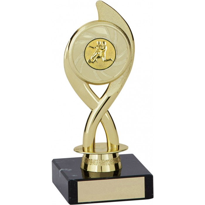 6'' SWIRL PLASTIC FOOTBALL  TROPHY