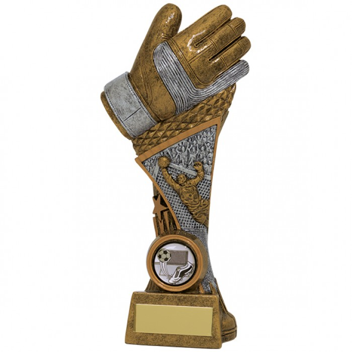 "Golden Glove Goalkeeper Football Trophy, 3 SIZES 6.5"", 7.75"" & 9"""