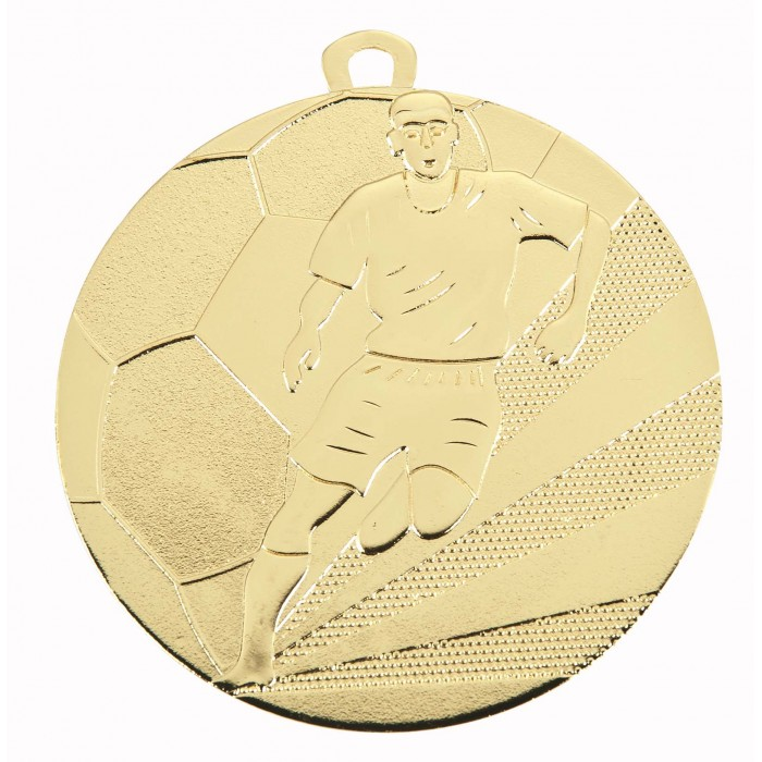 50MM FOOTBALL MEDAL - 3 COLOURS