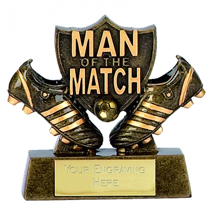 MAN OF THE MATCH RESIN TROPHY - 8CM