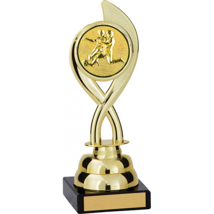 8'' SWIRL PLASTIC FOOTBALL TROPHY