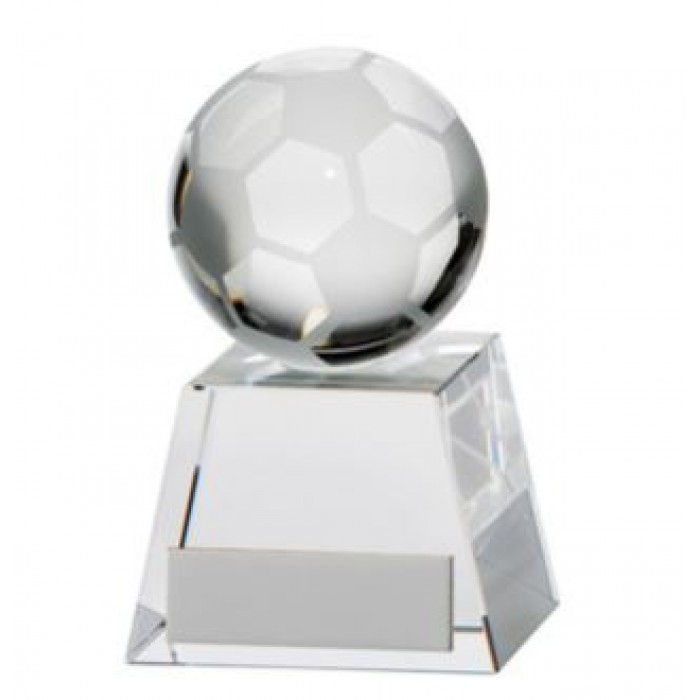 VOYAGER FOOTBALL CRYSTAL TROPHY - 9.5CM