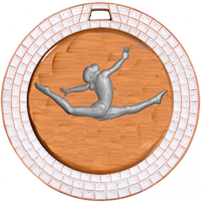BRONZE GEM GYMNASTICS MEDAL - 70MM