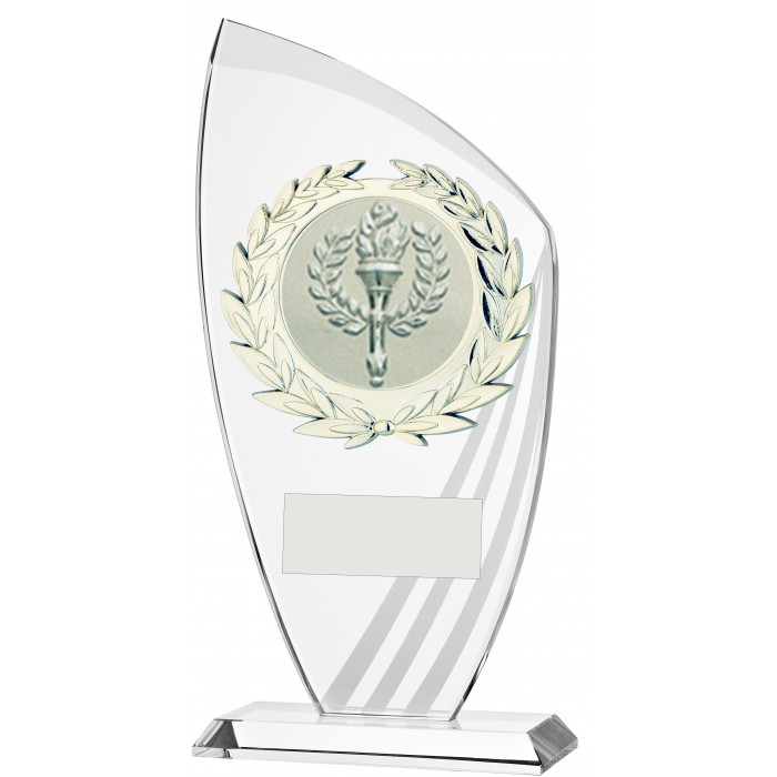 FROSTED STRIPE 10MM THICK BUDGET GLASS AWARD - STOCK CENTRE - 3 SIZES