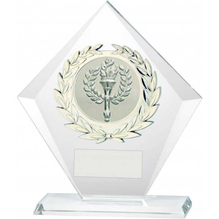 DIAMOND 10MM THICK BUDGET GLASS AWARD - STOCK CENTRE - 3 SIZES