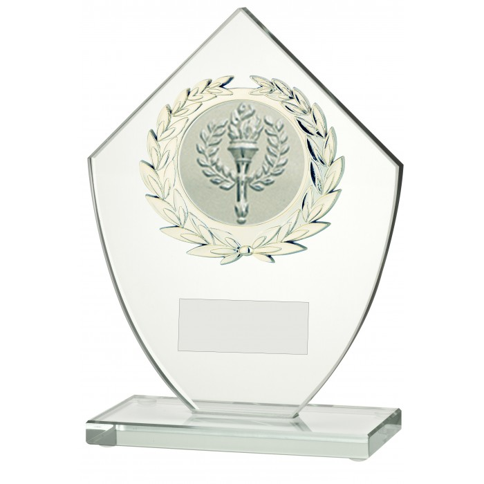 MODERN 10MM THICK BUDGET GLASS AWARD - STOCK CENTRE - 3 SIZES
