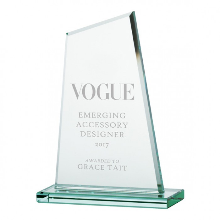 VANQUISH JADE GLASS AWARD - 150MM