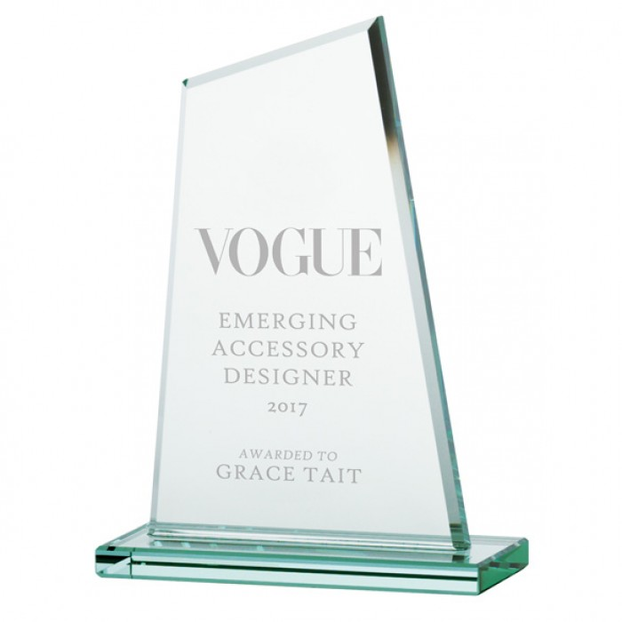 VANQUISH JADE GLASS AWARD - 200MM