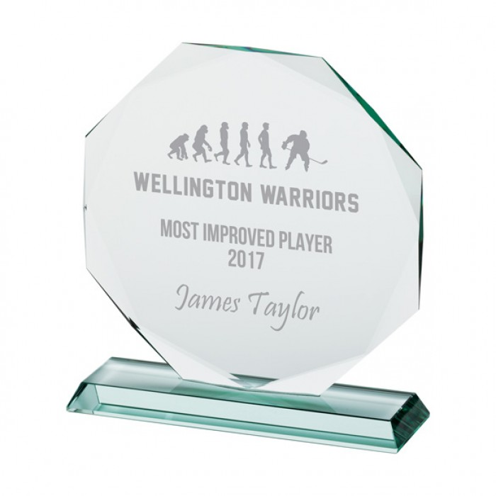 RECOGNITION JADE GLASS AWARD - 165MM