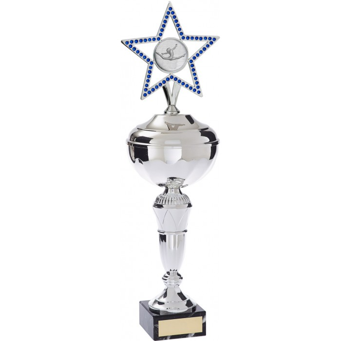 GYMNASTICS TROPHY FEATURING GEMSTONE STAR-  CHOICE OF SPORTS CENTRE / 4 SIZES AND COLOURS