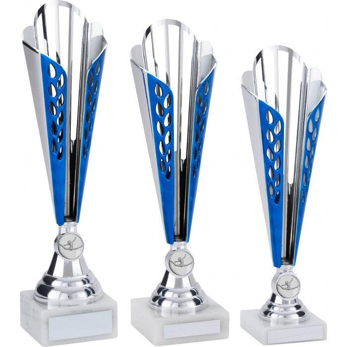 BLUE GYMNASTICS TROPHY - CONICAL CUP - CHOICE OF GYMNASTICS CENTRE