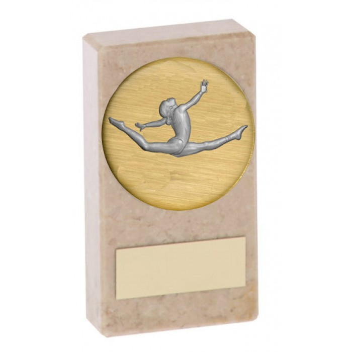 BUDGET MARBLE GYMNASTICS TROPHY  - AVAILABLE IN 2 SIZES - CHOICE CENTRE