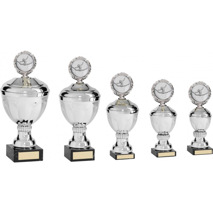 GYMNASTICS METAL TROPHY - CHOICE OF CENTRE  - AVAILABLE IN 5 SIZES