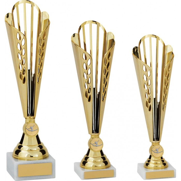 GOLD GYMNASTICS TROPHY - CONICAL CUP - CHOICE OF GYMNASTICS CENTRE