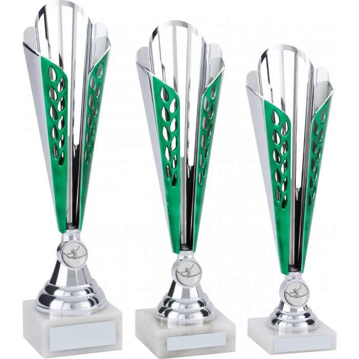 GREEN GYMNASTICS TROPHY - CONICAL CUP - CHOICE OF GYMNASTICS CENTRE