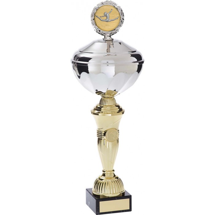 GYMNASTICS TROPHY WITH CHOICE CENTRE  - AVAILABLE IN 5 SIZES