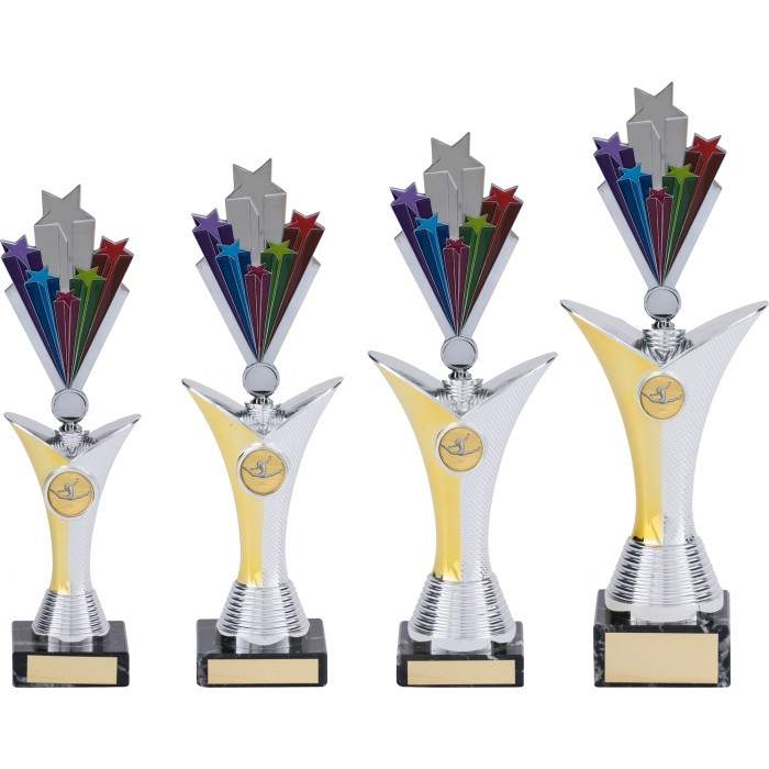 V-RISER STARBURST GYMNASTICS TROPHY  - AVAILABLE IN 4 SIZES