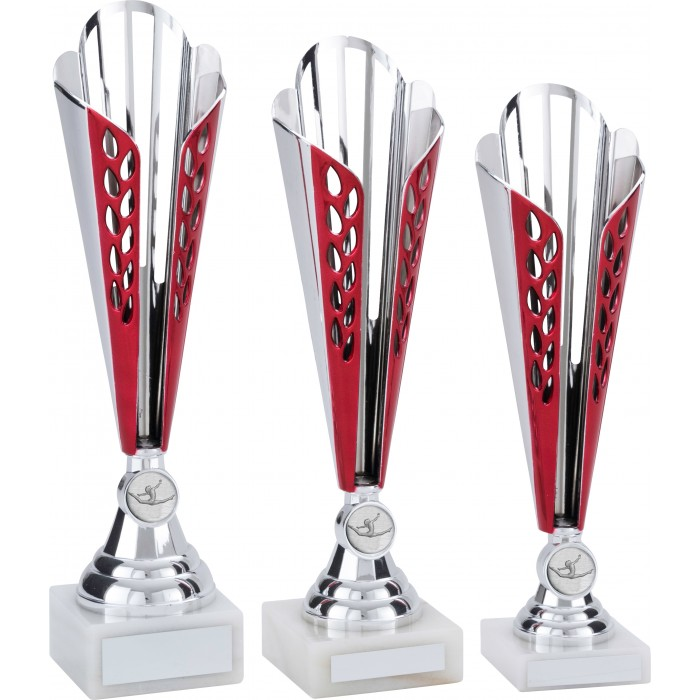 RED GYMNASTICS TROPHY - CONICAL CUP - WITH CHOICE OF GYMNASTICS CENTRE