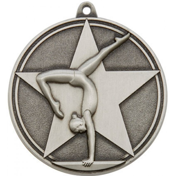 50MM X 3MM DANCE MEDAL - SILVER