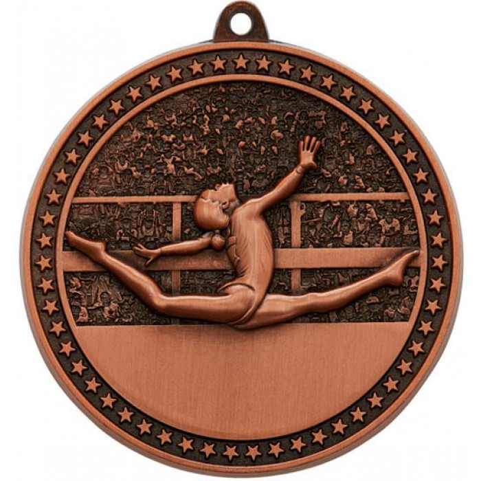 BRONZE GYMNASTICS MEDAL - 70MM / 6MM THICK