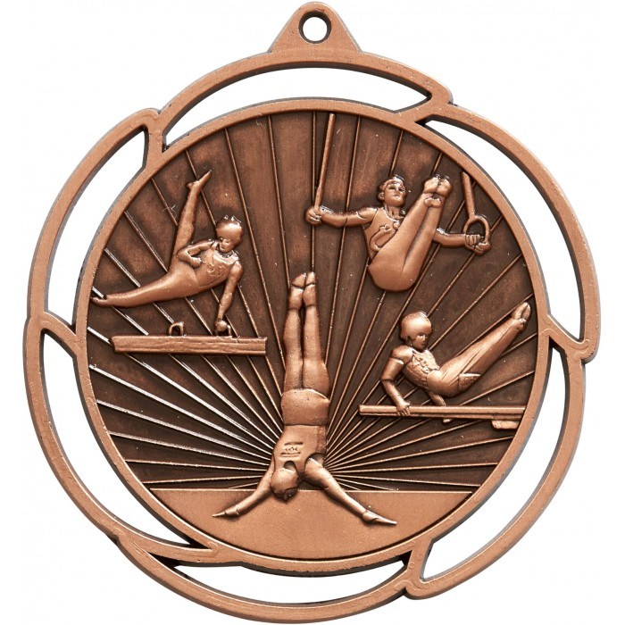 BRONZE GYMNASTICS MEDAL - 70MM