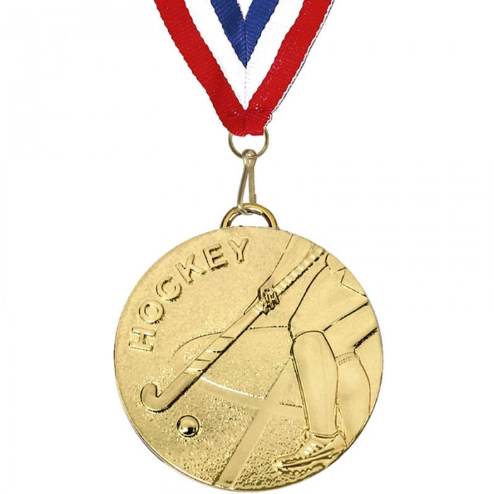 45MM HOCKEY GALAXY MEDAL WITH RIBBON