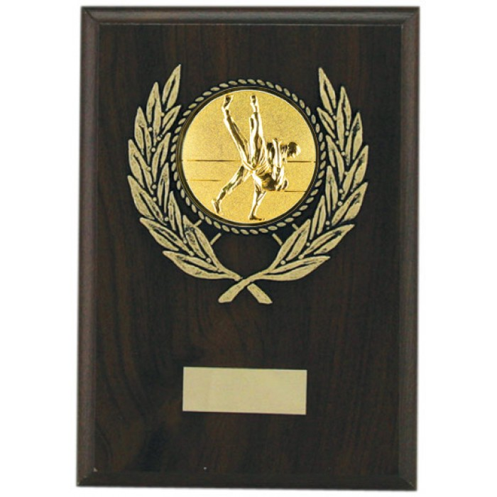 Budget grappling wooden plaque 7'' -  choice of sports centre