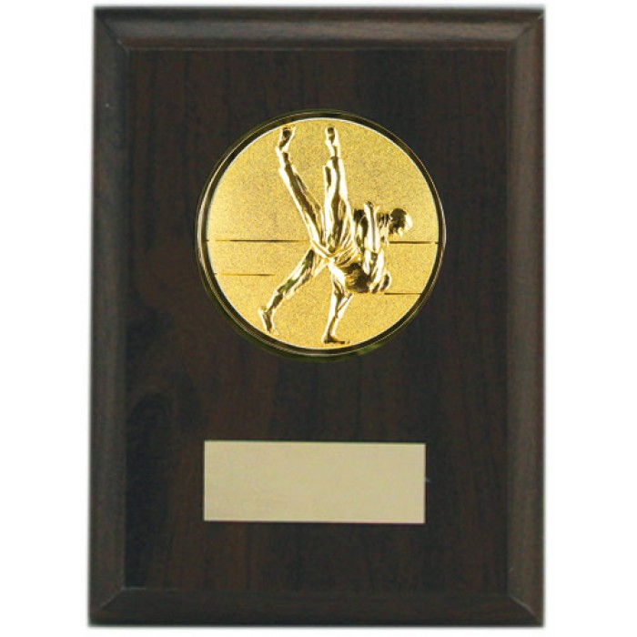 Budget Jiu Jitsu wooden plaque 5'' -  choice of sports centre