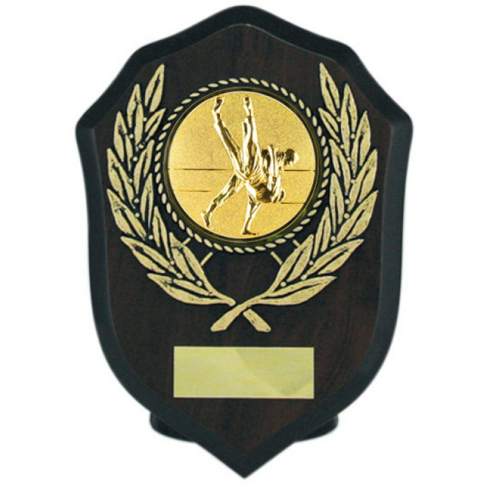 Budget Jiu Jitsu wooden plaque 6'' -  choice of sports centre